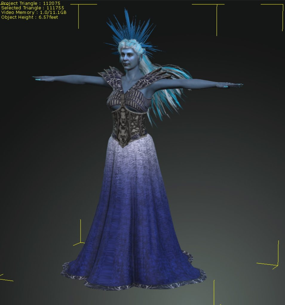 3D rendering of the ice queen